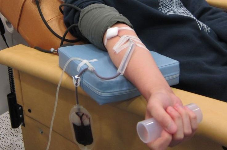 圖片: 捐血過程一般為七至十二分鐘
